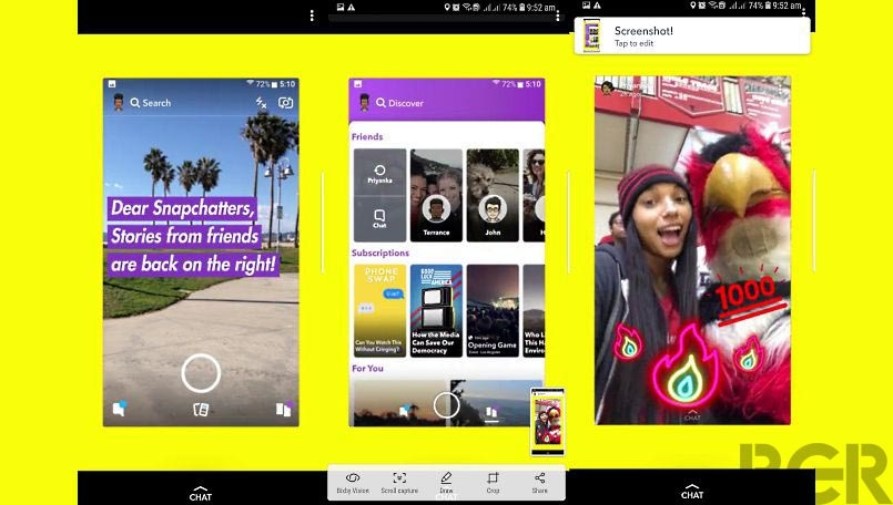 Snapchat redesign rolling out for Android users; puts Friends Stories back where it belongs