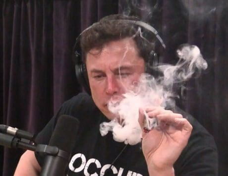 Elon Musk reveals plan about an electric plane right before smoking weed