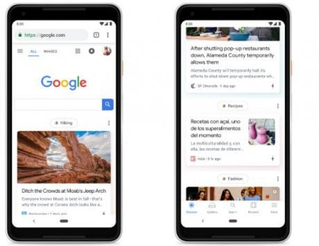 Google feed renamed to Discover; offers more topics and better customization