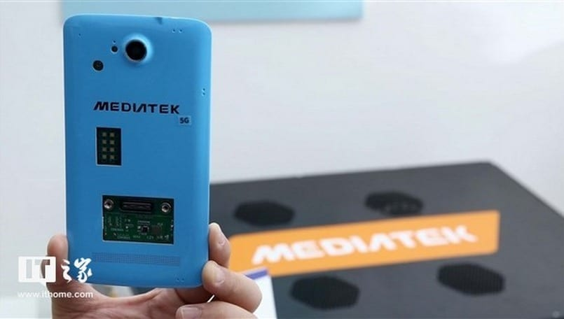 MediaTek has a 5G prototype smartphone with a fan inside