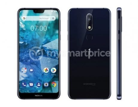 Nokia 7.1 Plus renders leak on the internet, notch and dual rear camera setup with Carl Zeiss optics revealed