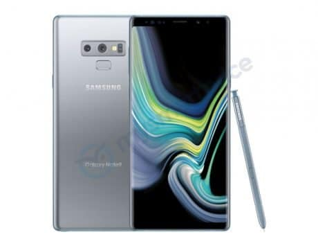 Samsung Galaxy Note 9 with Silver Color leaks out on the internet before its US launch