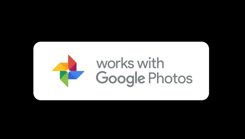 Works with google photos