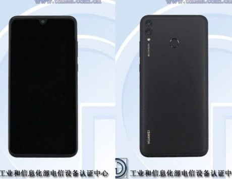 Huawei smartphone with leatherette back spotted