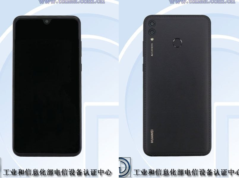 Huawei smartphone with 7.12-inch 18:9 notch display, leatherette back spotted online