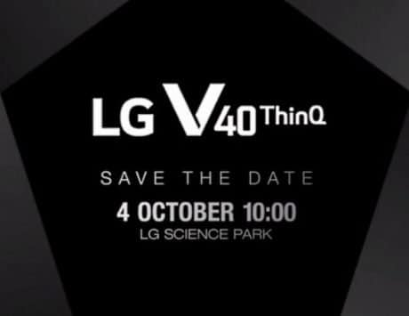 LG V40 ThinQ officially launching on October 4, company sends invite