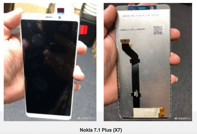 Alleged Nokia 7.1 Plus display panel leaks again, smaller no-notch display and Snapdragon 710 tipped