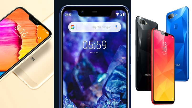 Nokia 5.1 Plus vs Xiaomi Redmi 6 Pro vs Realme 2: Price, specifications, and features compared