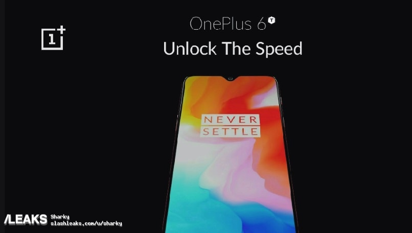 OnePlus 6T official poster leaked, showing waterdrop notch and slogan