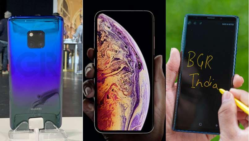 Huawei Mate 20 Pro vs Apple iPhone XS Max vs Samsung Galaxy Note 9: Specifications, Price compared