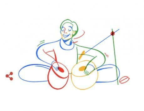 Google Doodle honors tabla player Lachhu Maharaj
