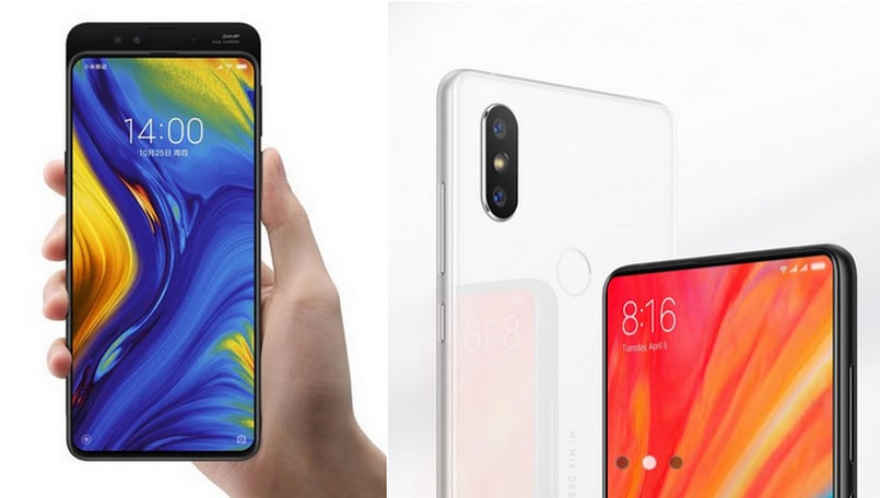 Xiaomi Mi MIX 3 vs Mi MIX 2S: Specifications and features compared