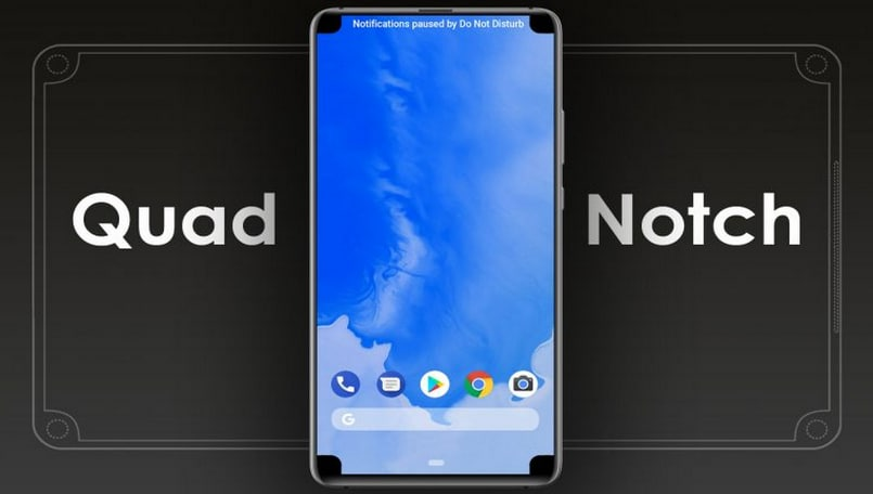 Don't like that big notch? Patent hints at one on each corner of the display