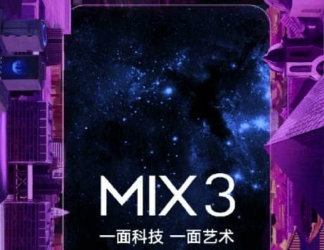 Xiaomi Mi Mix 3 with sliding camera design set to launch on October 25