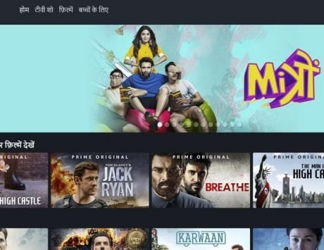 Amazon Prime Video rolls out Hindi version of its website for Indian users