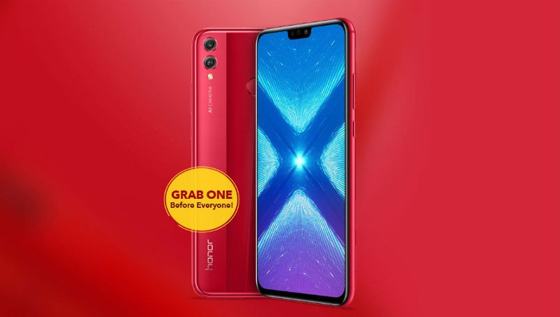 Honor 8X red variant all set to go on sale today as an Amazon India exclusive