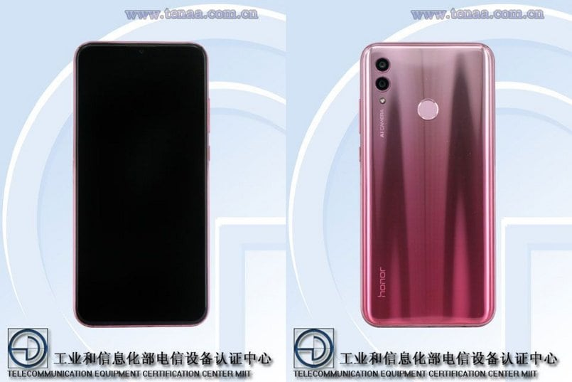 Honor 10 Lite full specifications listed on TENAA, launch scheduled for November 21