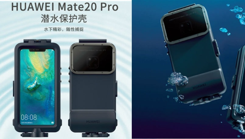 more photos ad75b 492b2 Huawei Mate 20 Pro gets waterproof case with support for underwater ...