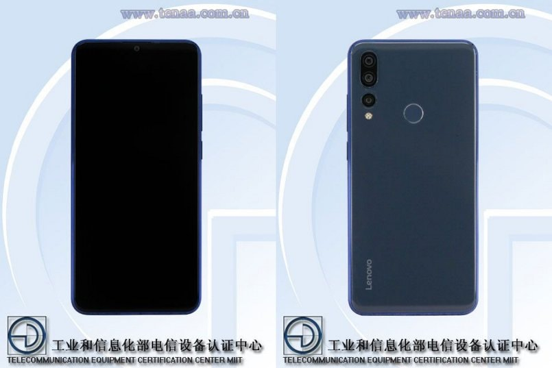 Lenovo L78071 spotted on TENAA featuring waterdrop notch, triple-camera setup