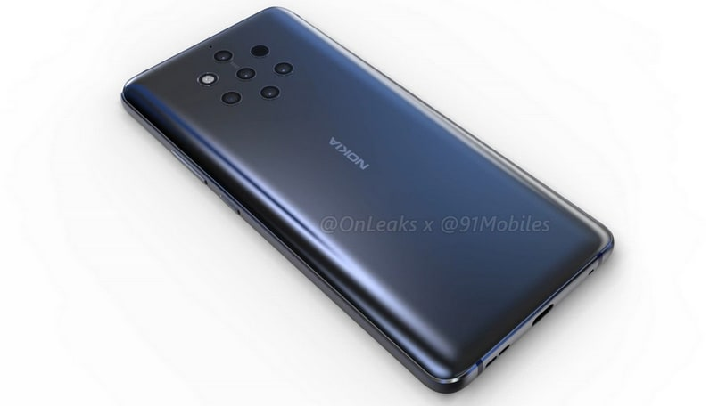 Nokia 9 renders showcase the phone's five rear cameras
