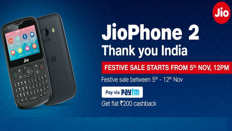 JioPhone 2 to be available via open sale from November 5-12: Here's all you need to know
