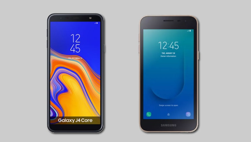 Samsung Galaxy J4 Core vs Galaxy J2 Core: What's Different
