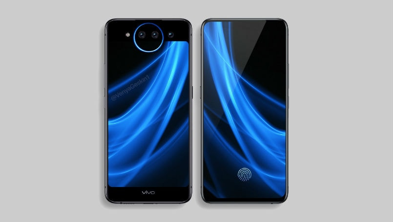 Alleged Vivo NEX 2 renders appear with dual displays, lunar ring and triple rear cameras