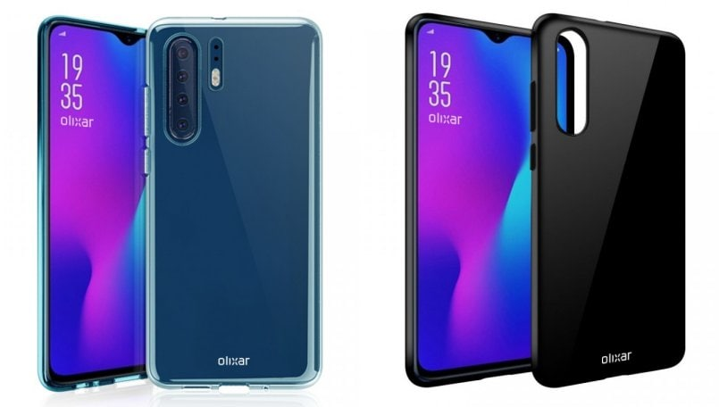 Huawei P30 Pro case renders reveal vertically stacked quad camera setup