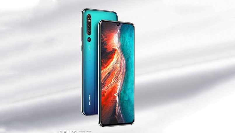 Huawei P30 Pro renders leaked; reveals display with water drop notch, quad cameras at the back