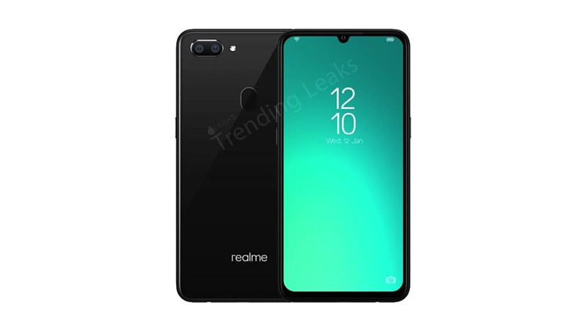 Realme A1 render and specs leaked; Helio P70 SoC, waterdrop notch, dual-rear cameras revealed
