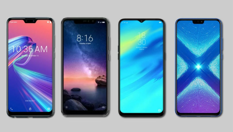 Asus Zenfone Max Pro M2 vs Realme 2 Pro vs Redmi Note 6 Pro vs Honor 8X: Price in India, specifications and features compared
