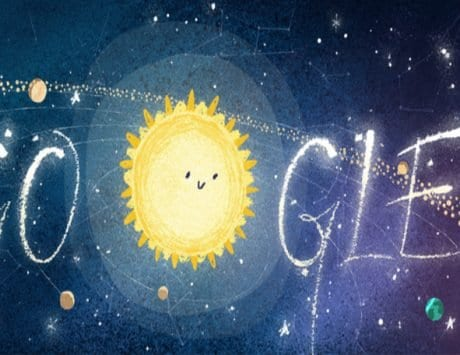 Google Doodle illustrates Geminids meteor shower