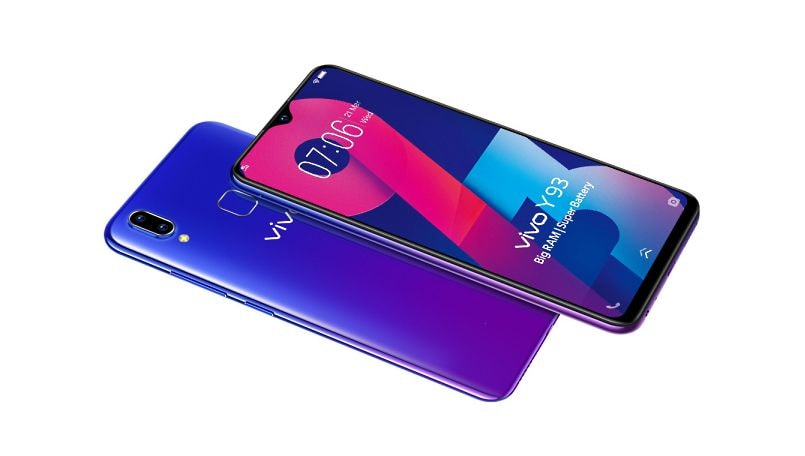 Vivo Y93 with waterdrop notch, Helio P22 SoC launched in India: Price, specifications and features