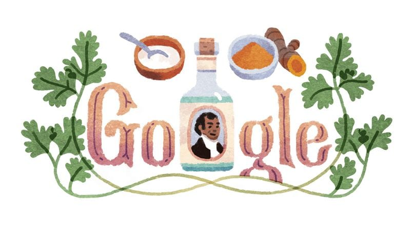 Sake Dean Mahomed, an Anglo-Indian entrepreneur author, celebrated in the latest Google Doodle
