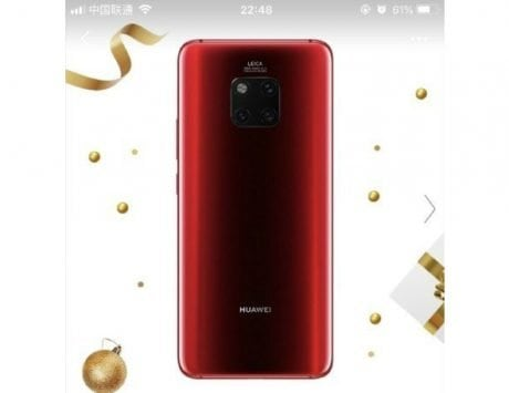 Huawei Mate 20 Pro Red color variant officially launching on January 10