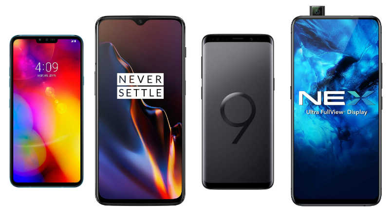 LG V40 ThinQ vs OnePlus 6T vs Samsung Galaxy S9 vs Vivo Nex: Price, Specifications compared