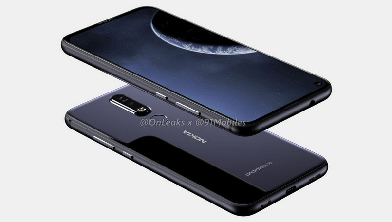 Nokia 8.1 Plus renders surface online; highlight 'punch-hole' front-facing lens