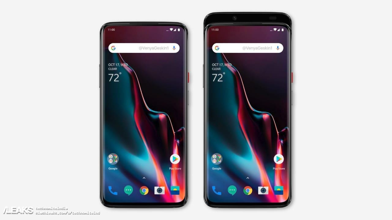 alleged oneplus 7 with fullscreen display possible