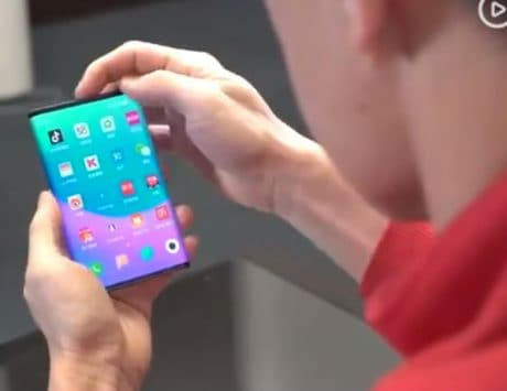 Xiaomi co-founder Lin Bin shows off dual-side folding smartphone