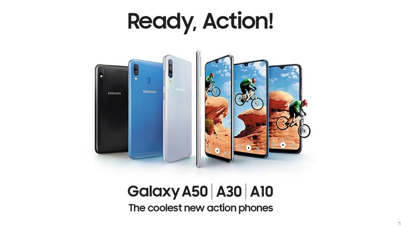 Samsung Galaxy A10, Galaxy A30, Galaxy A50 with 4,000mAh battery launched in India