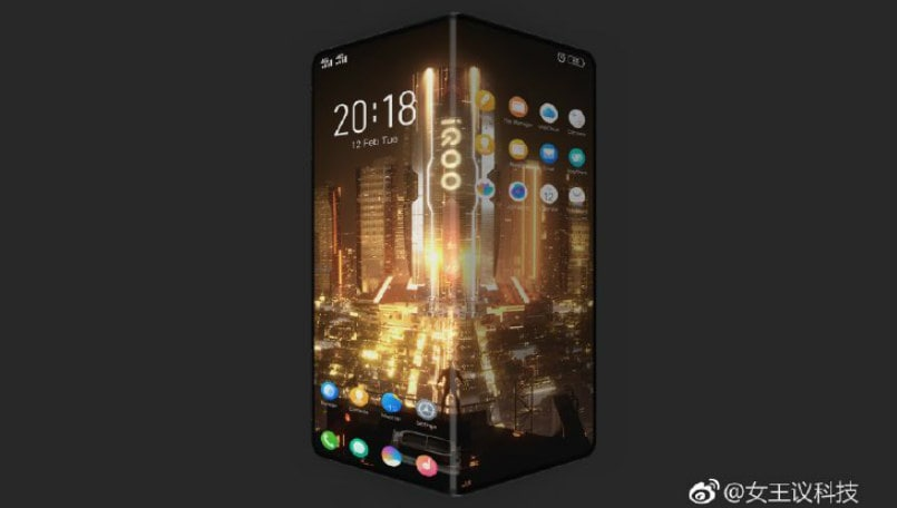 Vivo iQOO's first smartphone leaked; it is a foldable device