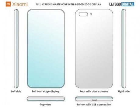 Xiaomi patents a smartphone screen with 4 curved edges
