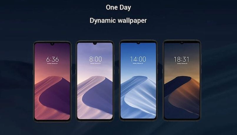 This Xiaomi Mi 9 wallpaper seems inspired from macOS Mojave's dynamic wallpaper