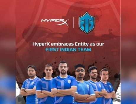 HyperX becomes primary sponsor of Entity Gaming; it's first eSports team in India