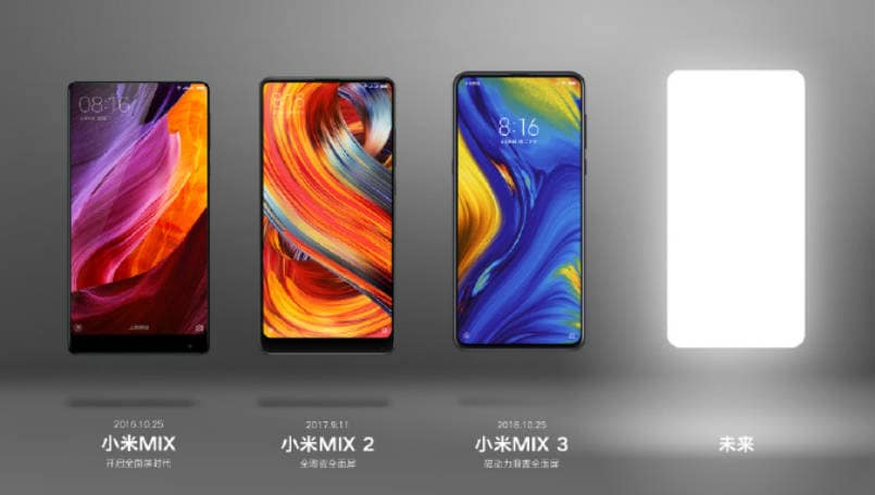 Xiaomi Mi MIX 4 teaser hints at all screen design