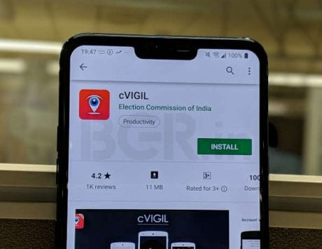 cVIGIL app launched by Election Commission of India