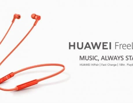 Huawei FreeLace wireless earphones unveiled
