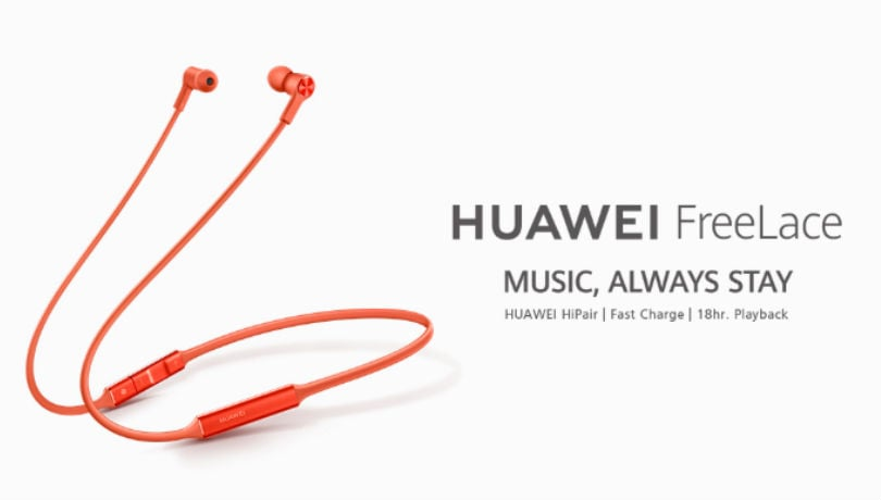 Huawei FreeLace wireless earphones unveiled alongside P30, P30 Pro smartphones