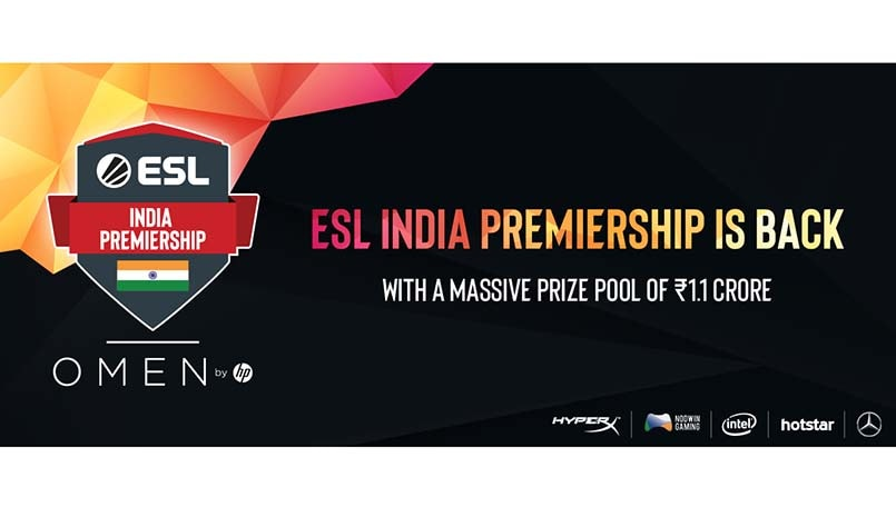 ESL India Premiership 2019 announced with a prize pool of Rs 1.1 crore