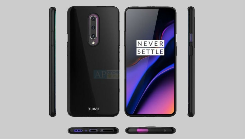 OnePlus 7 case renders give us our best look yet at pop-up selfie camera and triple rear cameras